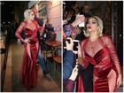 Lady Gaga diện đầm cắt xẻ táo bạo 'có như không' gây náo loạn trên phố