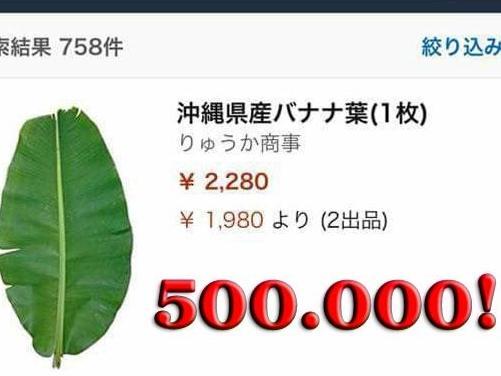 Ở Việt Nam thì rẻ như cho, sang Nhật lá chuối có giá 500 nghìn đồng/lá