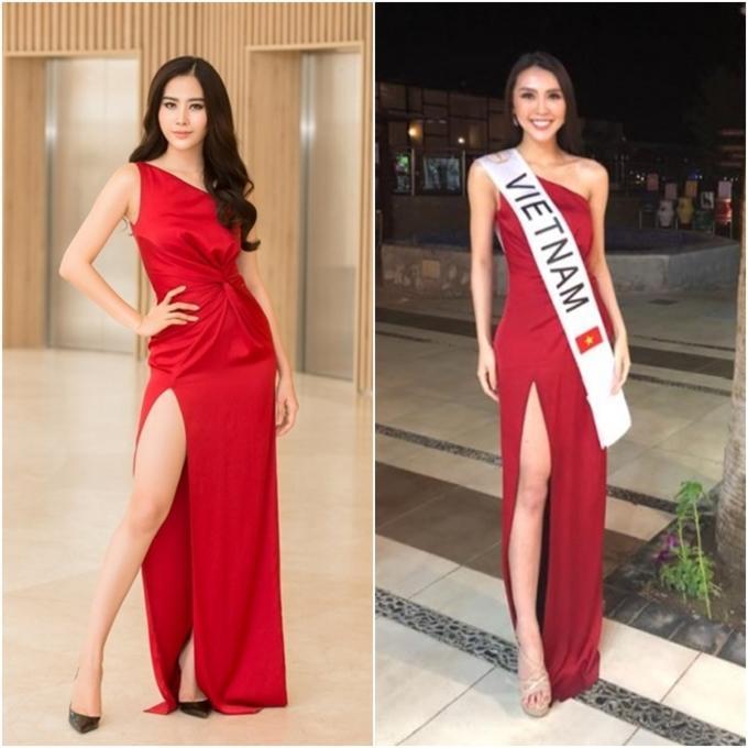 Đi thi hoa hậu nhưng loạt mỹ nhân chỉ toàn mặc lại váy cũ của sao Việt-1