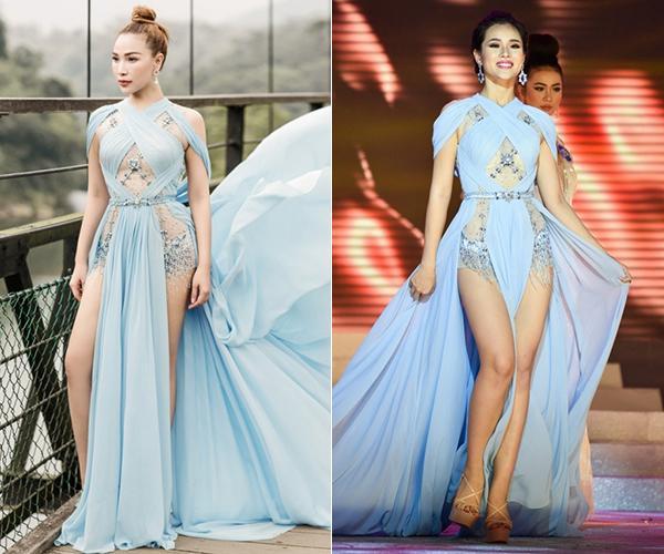Đi thi hoa hậu nhưng loạt mỹ nhân chỉ toàn mặc lại váy cũ của sao Việt-10