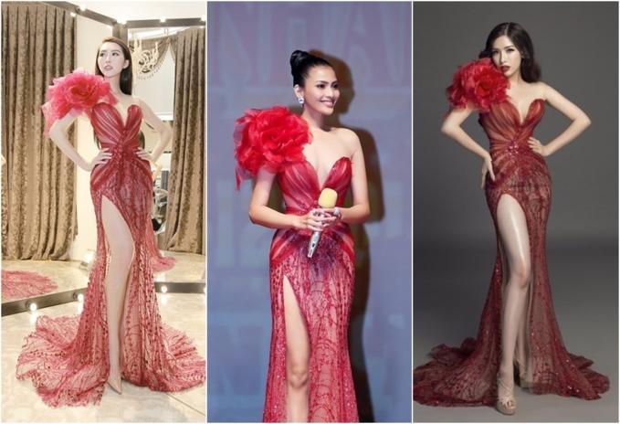 Đi thi hoa hậu nhưng loạt mỹ nhân chỉ toàn mặc lại váy cũ của sao Việt-4