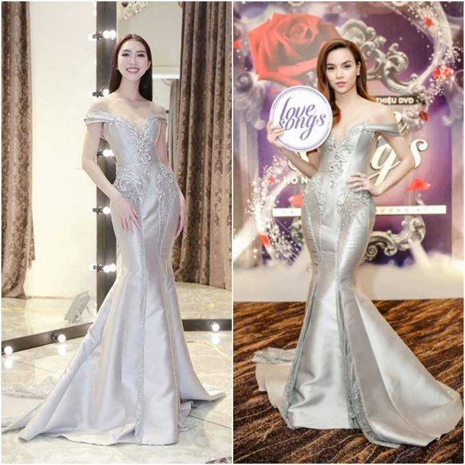 Đi thi hoa hậu nhưng loạt mỹ nhân chỉ toàn mặc lại váy cũ của sao Việt-5
