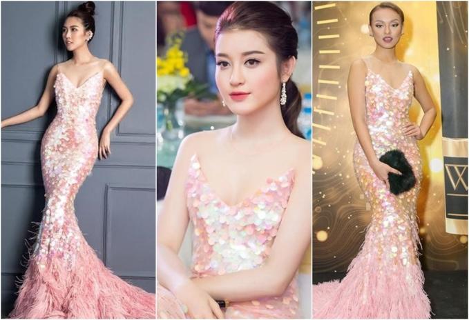 Đi thi hoa hậu nhưng loạt mỹ nhân chỉ toàn mặc lại váy cũ của sao Việt-6
