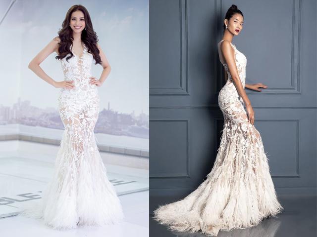 Đi thi hoa hậu nhưng loạt mỹ nhân chỉ toàn mặc lại váy cũ của sao Việt-12