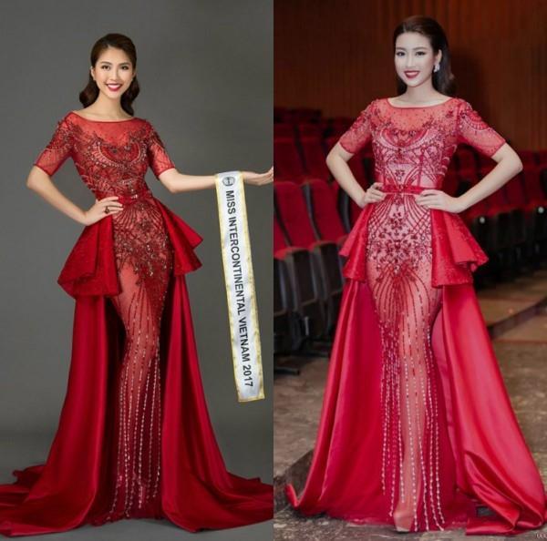 Đi thi hoa hậu nhưng loạt mỹ nhân chỉ toàn mặc lại váy cũ của sao Việt-3
