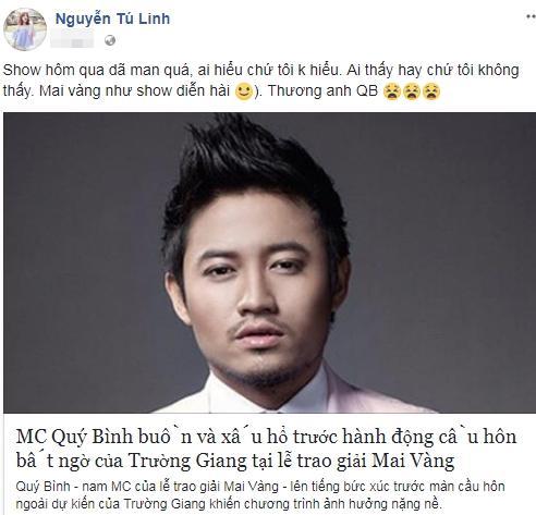 Hot girl - hot boy Việt: Tú Linh nói Lễ trao giải Mai Vàng như show diễn hài-1
