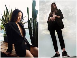 Đồng Ánh Quỳnh - Khánh Linh The Face đứng đầu street style đẹp tuần qua nhờ suit không nội y