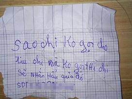 Bình Dương: Tên trộm nhí lấy đồ lót, gửi lại giấy đe dọa kèm số điện thoại cho cô gái
