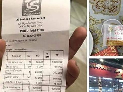 Ê kíp của ca sĩ Quang Lê tố bị 'chặt chém' bữa ăn khuya gần 25 triệu đồng, nhà hàng ở Đà Nẵng nói gì?