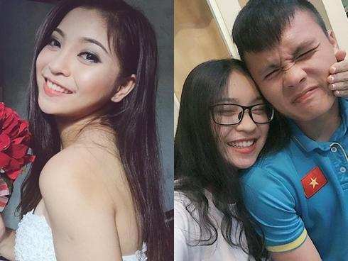 Bạn gái xinh như hot girl của Nguyễn Quang Hải - cầu thủ ghi liên tục 2 bàn thắng trong trận gặp Qatar