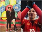 Gu thời trang giản dị vẫn đẹp của tiền vệ xuất sắc nhất trận đấu với Qatar Nguyễn Quang Hải