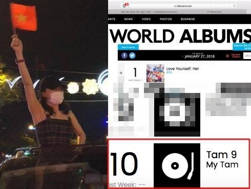 Chấn động: Album 'Tâm 9' của Mỹ Tâm bất ngờ lọt top 10 bảng xếp hạng Billboard