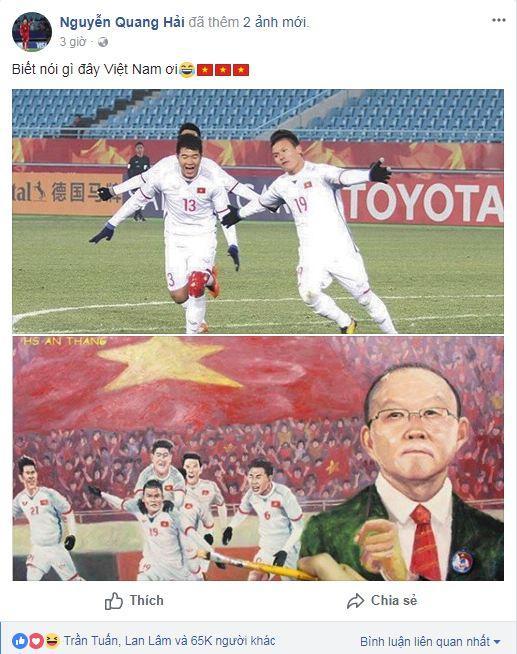Hạ gục U23 Qatar, các anh hùng của U23 Việt Nam liên tục gửi lời cảm ơn người hâm mộ-1