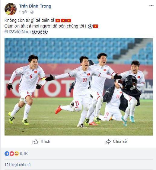 Hạ gục U23 Qatar, các anh hùng của U23 Việt Nam liên tục gửi lời cảm ơn người hâm mộ-4