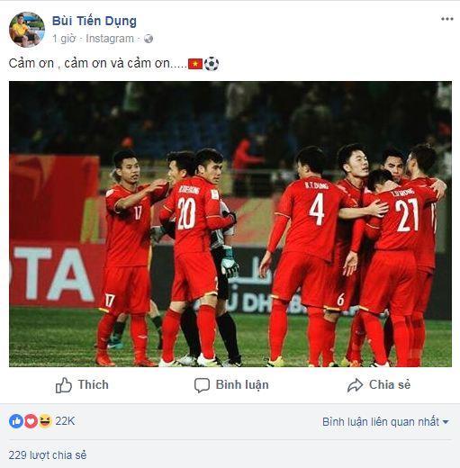 Hạ gục U23 Qatar, các anh hùng của U23 Việt Nam liên tục gửi lời cảm ơn người hâm mộ-5