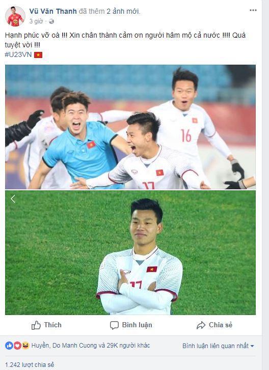 Hạ gục U23 Qatar, các anh hùng của U23 Việt Nam liên tục gửi lời cảm ơn người hâm mộ-6