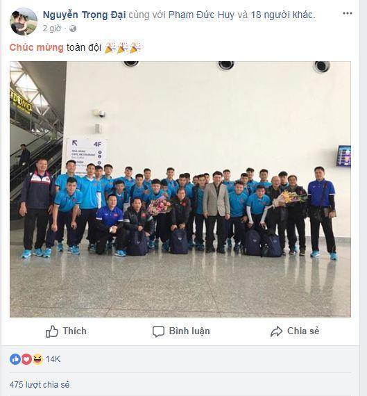 Hạ gục U23 Qatar, các anh hùng của U23 Việt Nam liên tục gửi lời cảm ơn người hâm mộ-7