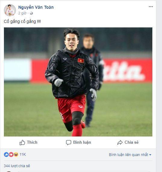 Hạ gục U23 Qatar, các anh hùng của U23 Việt Nam liên tục gửi lời cảm ơn người hâm mộ-8