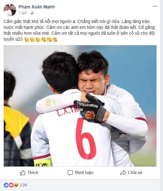 Hạ gục U23 Qatar, các anh hùng của U23 Việt Nam liên tục gửi lời cảm ơn người hâm mộ-9