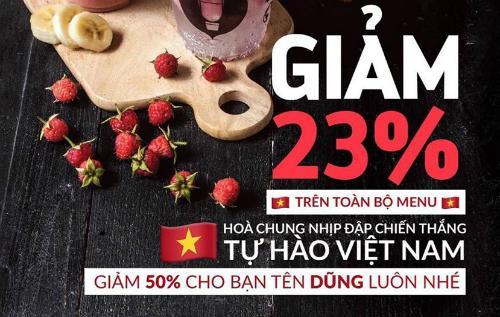 Bão sale mừng chiến thắng U23 Việt Nam: Giảm giá kịch sàn cho tất cả những người tên Dũng, tên Hải-2
