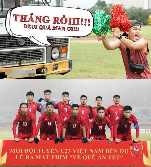 U23 Việt Nam chiến thắng, Ngô Thanh Vân quyết tâm mời thủ môn Tiến Dũng đóng phim-2