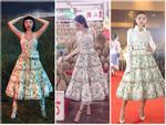 Không chỉ mặc một thiết kế những hai lần, Tóc Tiên còn đụng hàng kép cả Angela Phương Trinh và Tú Hảo