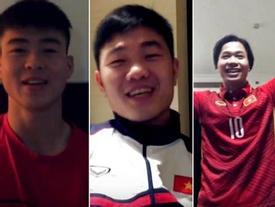 Dàn trai đẹp U23 Việt Nam vui vẻ giúp bạn cầu hôn trước thềm trận bán kết