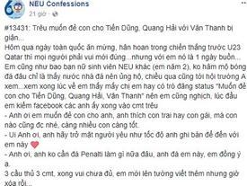Bị người yêu giận vì muốn sinh con cho Tiến Dũng, Quang Hải