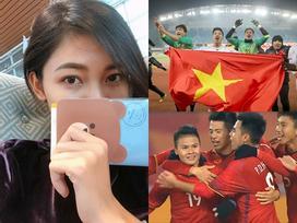 Á hậu Thanh Tú đã có mặt tại Trung Quốc, sẵn sàng phủ cờ đỏ sao vàng cổ vũ U23 Việt Nam vô địch