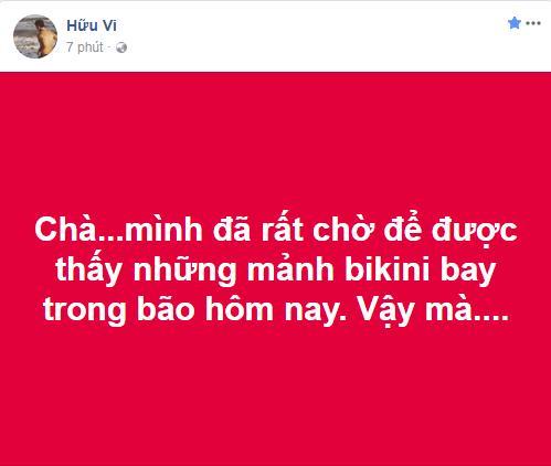 U23 Việt Nam thua trận, Hữu Vi gây phẫn nộ với phát ngôn không được ngắm bikini bay trong bão-2