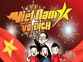Bộ tranh vui: Mọi trái tim đều hướng về niềm tin chiến thắng - Việt Nam vô địch