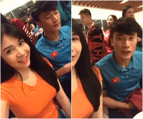 Livestream cùng thủ môn quốc dân Bùi Tiến Dũng, Thanh Bi trở thành cô gái bị chị em ghen tỵ nhất đêm qua-1