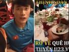 Cận cảnh bữa cơm đầu tiên lúc nửa đêm khi trở về quê hương của đội tuyển U23 Việt Nam