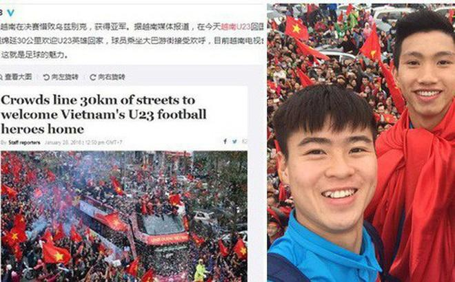 Trung Quốc sửng sốt trước những hình ảnh chào đón U23 trở về của người dân Việt Nam-3
