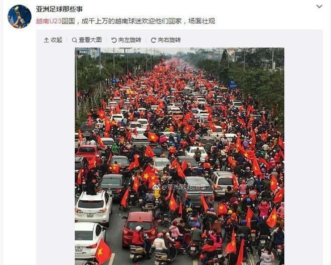 Trung Quốc sửng sốt trước những hình ảnh chào đón U23 trở về của người dân Việt Nam-4
