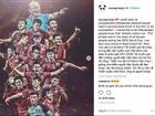 Big Bang Seungri gửi lời chúc mừng chiến thắng tới tuyển U23 Việt Nam bằng tiếng Việt
