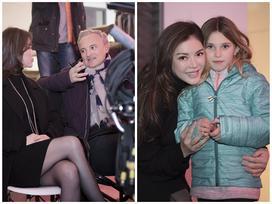 Nhà sản xuất Lý Nhã Kỳ cùng ê-kíp nước ngoài trên phim trường 'Angel's Face'