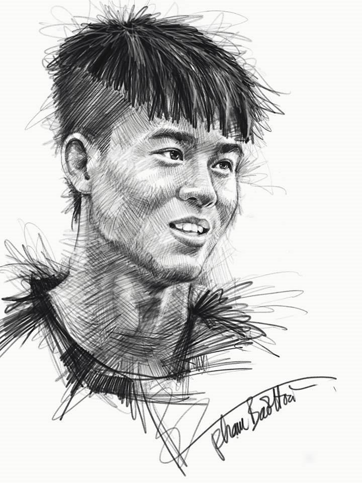 Loạt tranh vẽ sống động như thật về HLV Park Hang-seo và toàn đội U23 Việt Nam-2