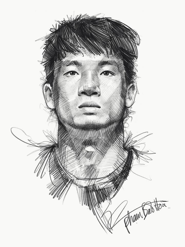 Loạt tranh vẽ sống động như thật về HLV Park Hang-seo và toàn đội U23 Việt Nam-11