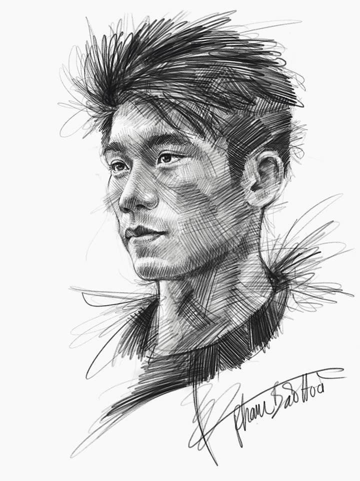 Loạt tranh vẽ sống động như thật về HLV Park Hang-seo và toàn đội U23 Việt Nam-6