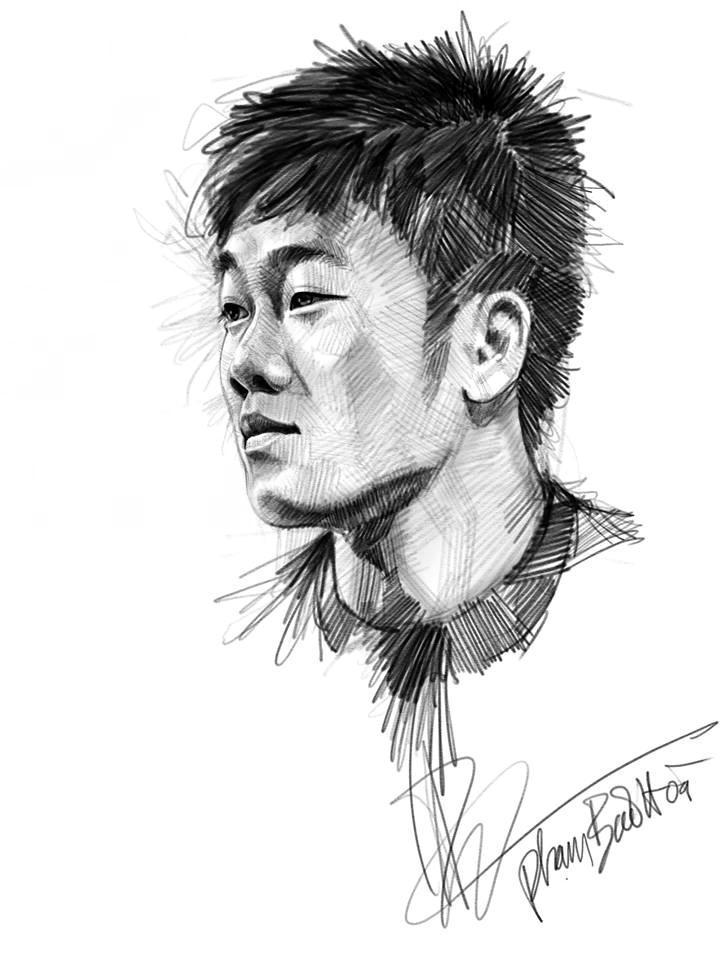 Loạt tranh vẽ sống động như thật về HLV Park Hang-seo và toàn đội U23 Việt Nam-7