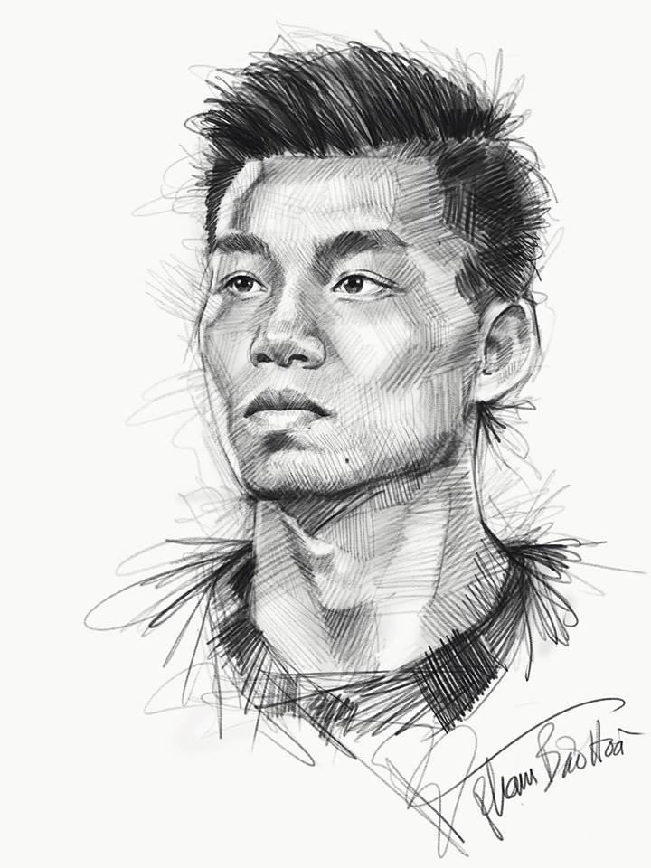 Loạt tranh vẽ sống động như thật về HLV Park Hang-seo và toàn đội U23 Việt Nam-10