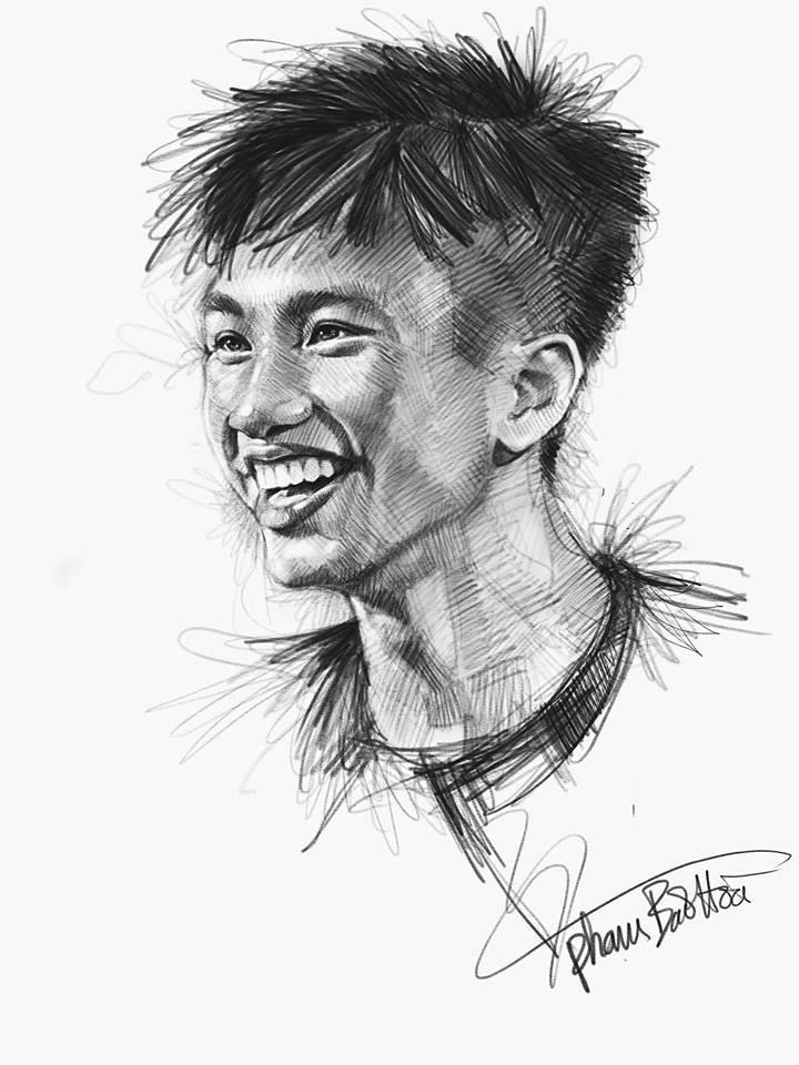 Loạt tranh vẽ sống động như thật về HLV Park Hang-seo và toàn đội U23 Việt Nam-9