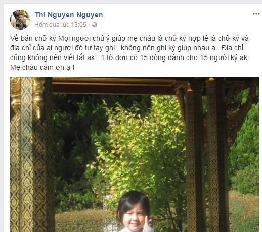 Gia đình bé Nhật Linh tổ chức các điểm tiếp nhận chữ kí ở Hà Nội-2