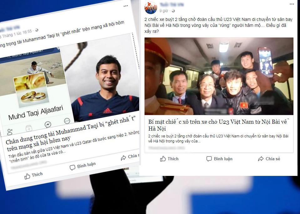 Kích động chửi bới và những trò lố trên Facebook ăn theo U23 Việt Nam-3