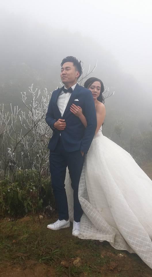 Cô dâu dũng cảm nhất năm: Mặc váy hở vai chụp ảnh cưới giữa băng tuyết Sapa-1