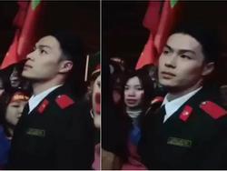 Dân mạng truy lùng danh tính chàng cảnh sát điển trai trong lễ đón U23 tại Nghệ An