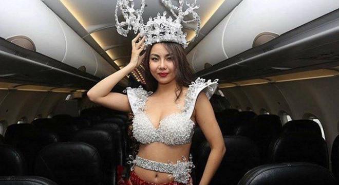Vietjet xin lỗi Lại Thanh Hương sau vụ mặc bikini đón U23 Việt Nam-2