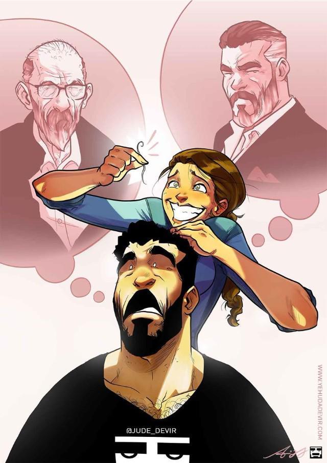 Những tình huống hài khó đỡ mà cặp đôi nào cũng gặp phải qua nét vẽ của hoạ sĩ Israel-3