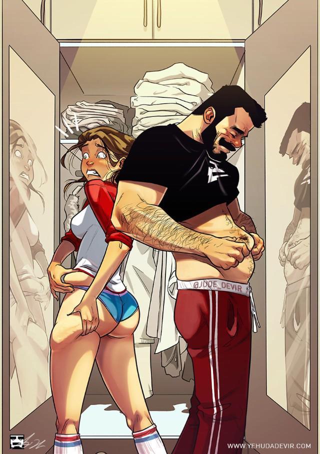 Những tình huống hài khó đỡ mà cặp đôi nào cũng gặp phải qua nét vẽ của hoạ sĩ Israel-6